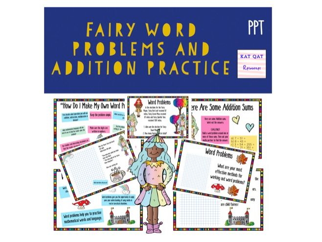 Fairy Themed Word Problems For Lower Key Stage Two Maths Addition