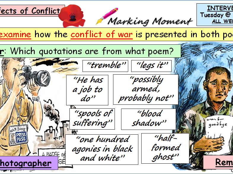 Comparison Poetry Prep 'Remains' and 'War Photographer'