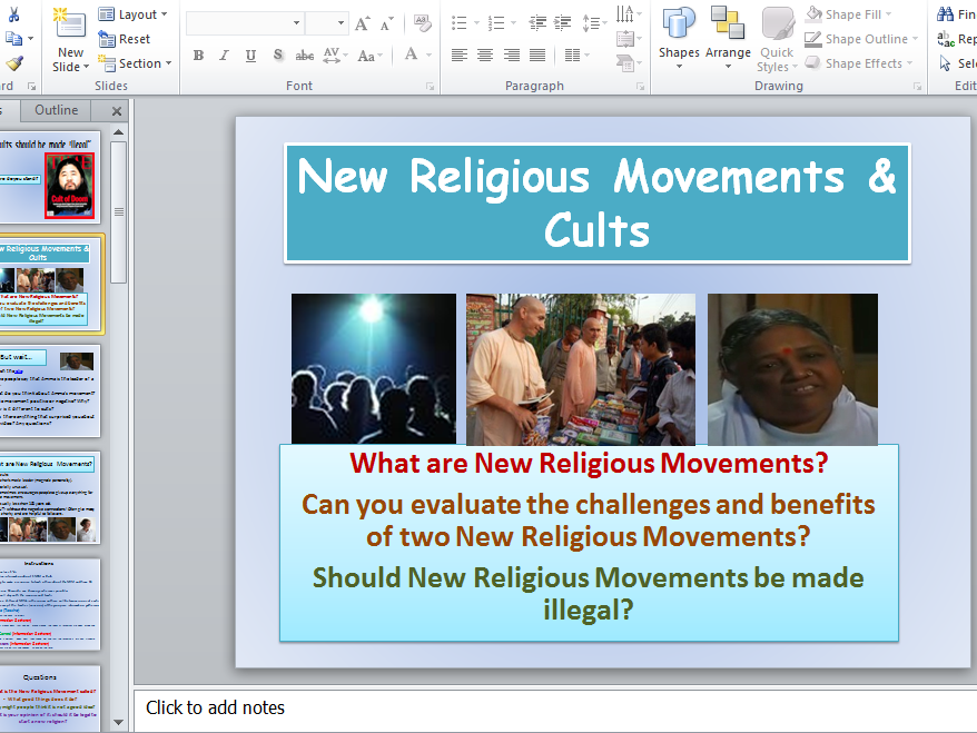 New Religious Movements and Cults