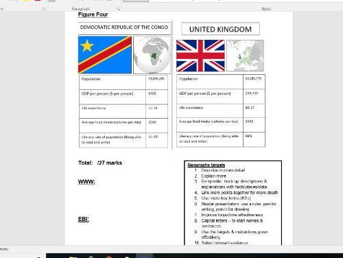 KS3 Africa End of Unit Assessment
