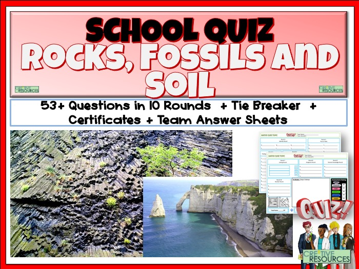 Rocks Fossils and Soil Quiz