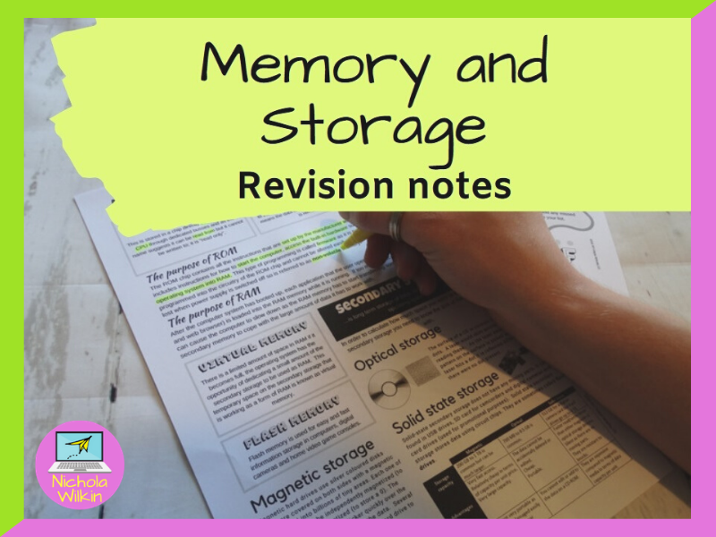 Memory and Storage Revision Knowledge Organiser
