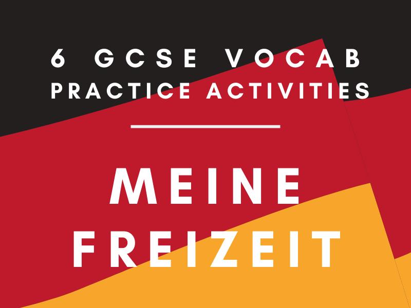 German GCSE Meine Freizeit Vocabulary Practice