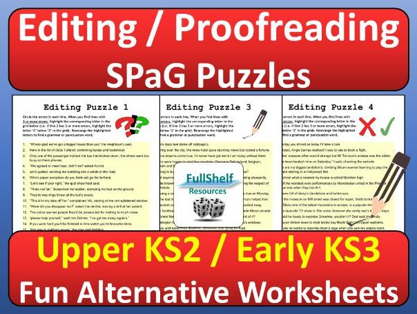 SPaG Activities Proofreading