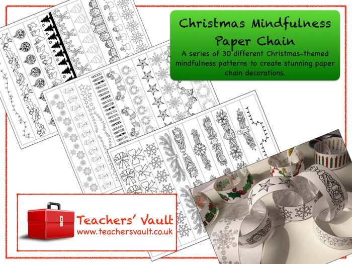 Christmas Mindfulness Paper Chain