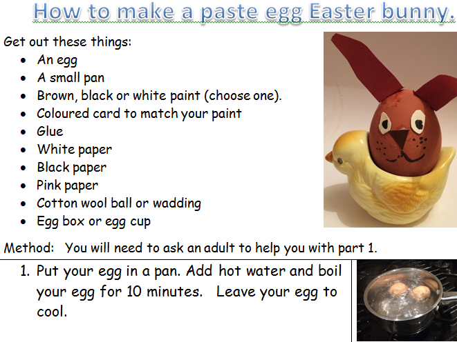 KS1 &2 set of 5 fun Easter instruction activities