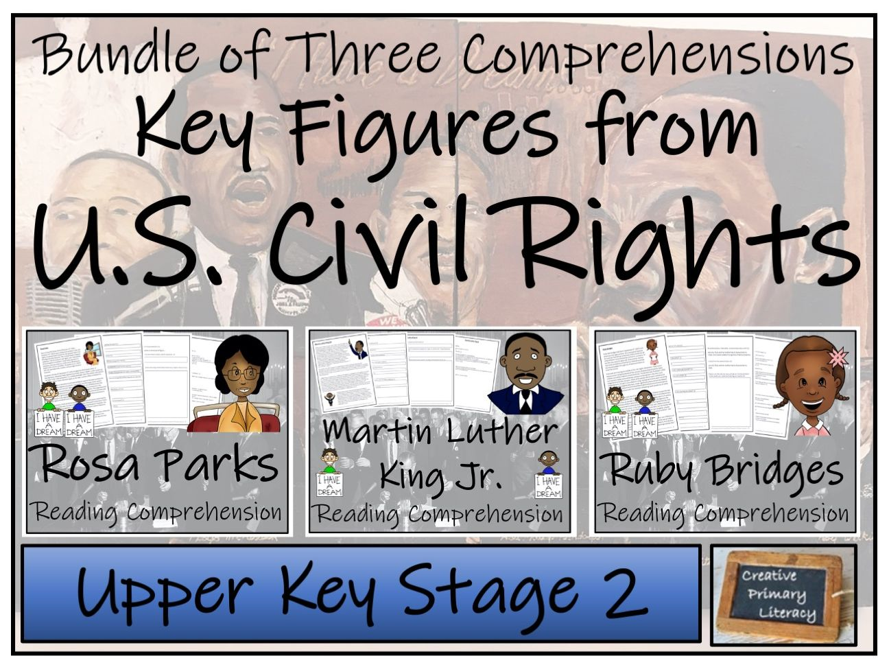 UKS2 Civil Rights Movement Reading Comprehension Activity Bundle