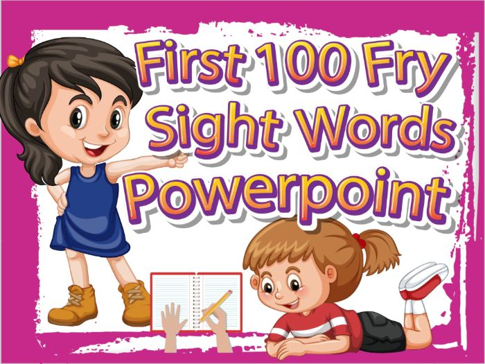 Sight Words PowerPoint Game - First 100 (Distance Learning)