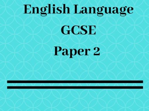 A* GCSE English Language Paper 2 Answers: Model Answers and Revision Pack