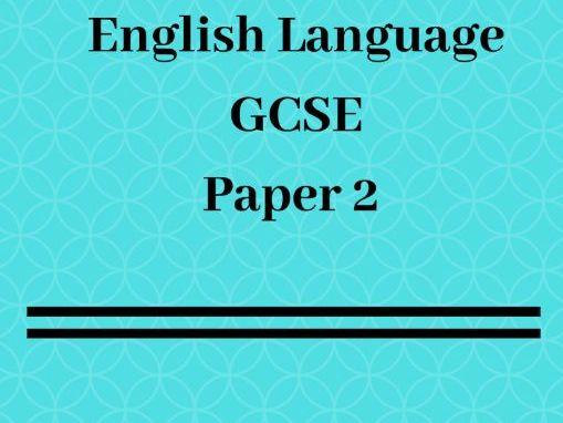 GCSE English Language Paper 2: Model Answers