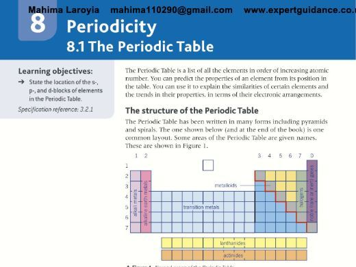 AQA AS Chemistry Year 1 and AS 2nd Edition C8 Periodicity - Revision Videos,Notes, Questions, Past P