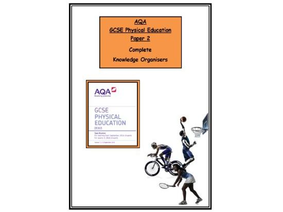GCSE PE – AQA - Complete Booklet of Paper 2 Knowledge Organisers/Revision Mats