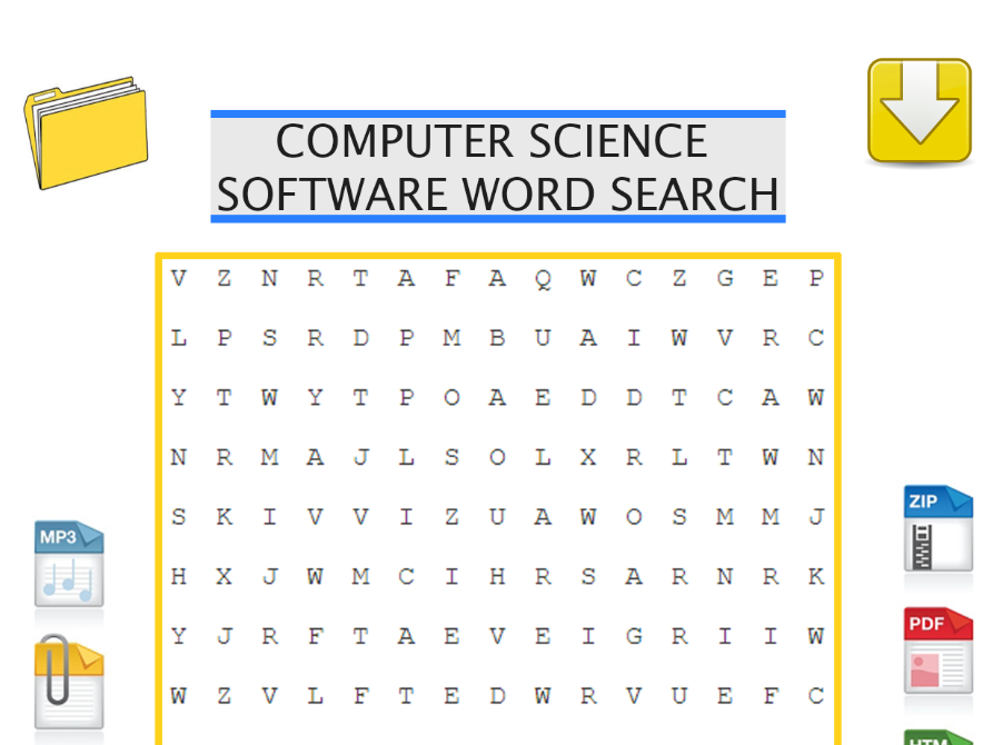 Computer science starter activity software word search