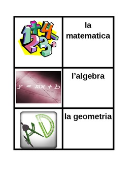Materie (School Subjects in Italian) Concentration games