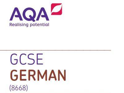 GCSE AQA German foundation writing practice paper 1 - TIME SAVER!