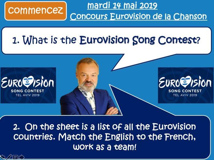 Eurovision 2019 - Tel Aviv Israel -  MFL FRENCH