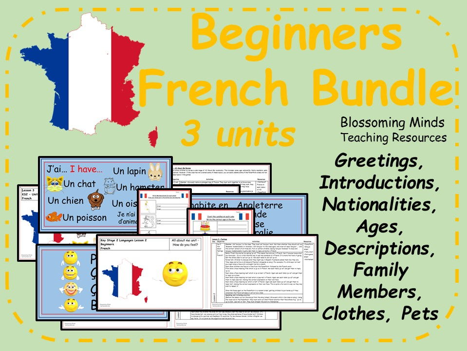 French Lesson Bundle - 15 lessons