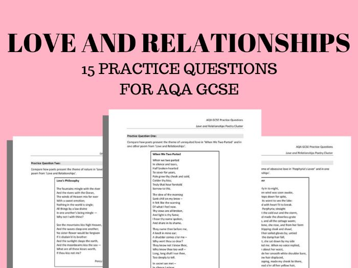 Love and Relationships Practice Questions for AQA GCSE