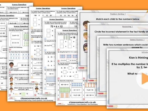 Year 5 Inverse Operations Autumn Block 4 Step 7 Maths Lesson Pack