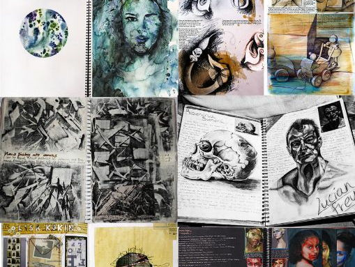 GCSE Art and Photography Sketchbook Examples