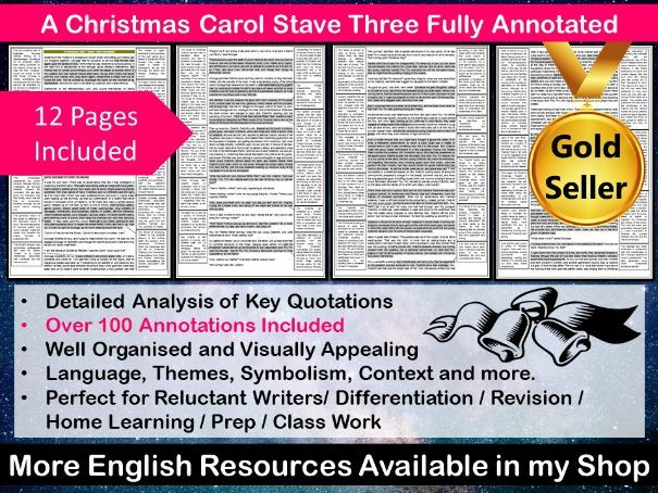 A Christmas Carol Stave Three Fully Annotated