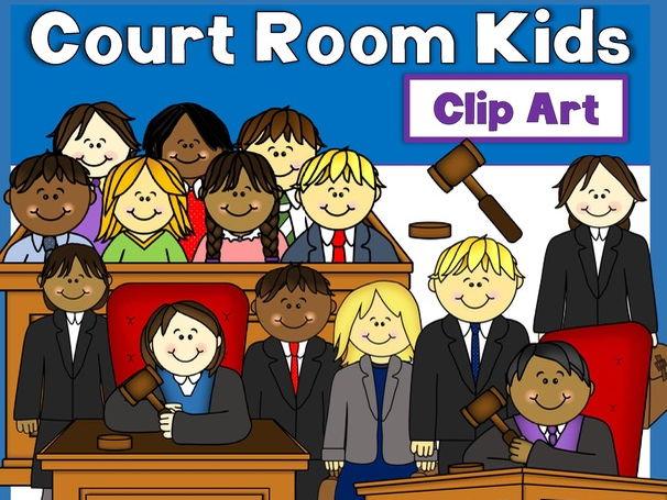 Court Room Kids Clip Art