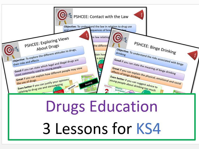 PSHE: Drugs Education: KS4 3-Lesson Bundle