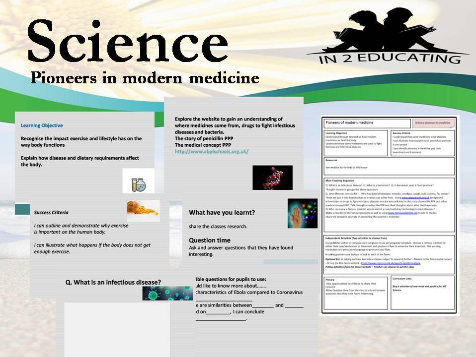 KS 2 Science Pioneers in modern medicine