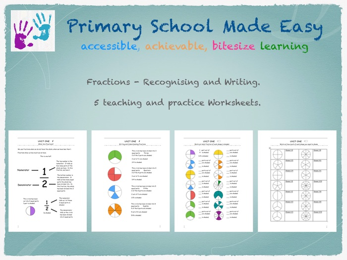 Recognising and Writing Simple Fractions by primaryschoolmadeeasy ...