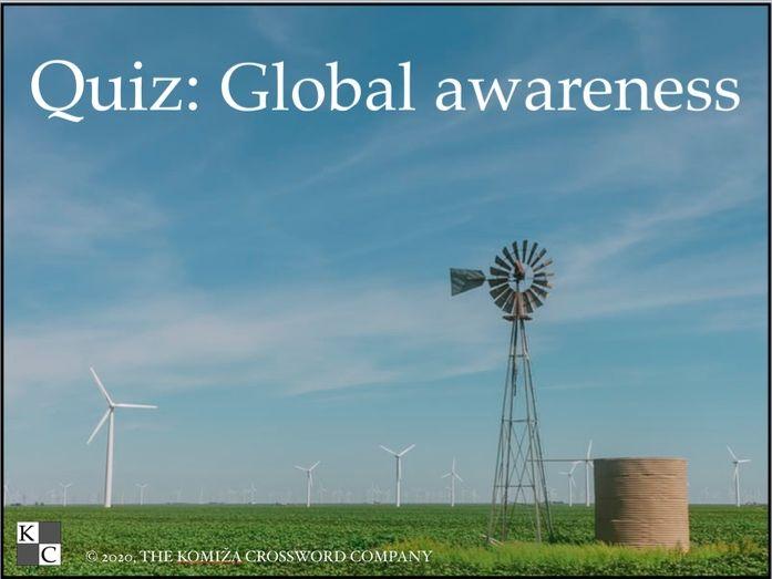 Global Awareness Quiz