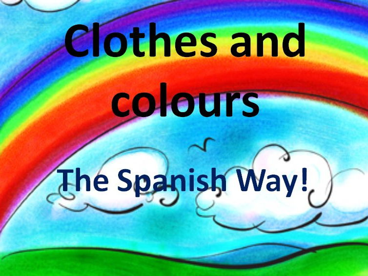 La Ropa - Describing clothes in Spanish