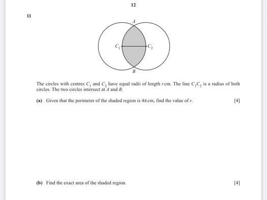 0606 IGCSE Add Maths Circular Measure