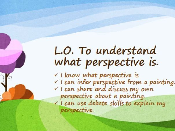 Narrative Fiction- Perspective- Character's Point of View- unit