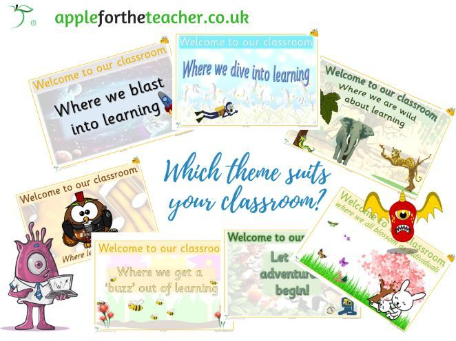 Welcome to our classroom display posters for a range of themes