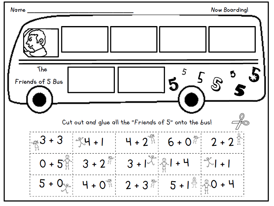 """Get on the Bus: """"Friends of"""" Worksheet"""