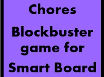 Chores Blockbuster game for Smartboard