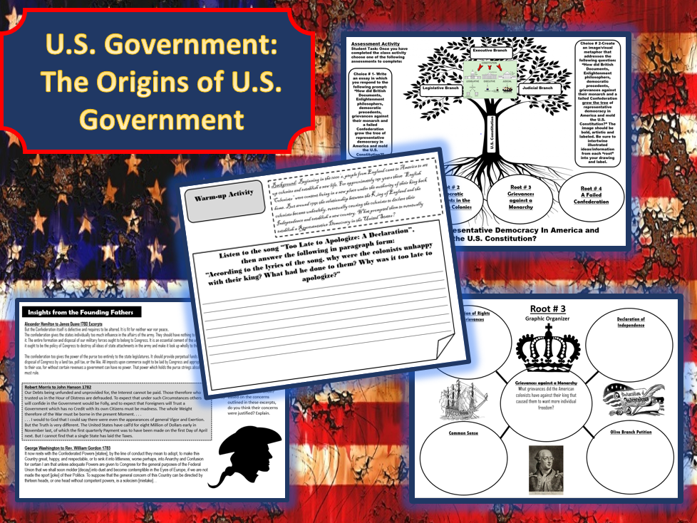 U.S. Government: The Origins of U.S. Government Student Activity