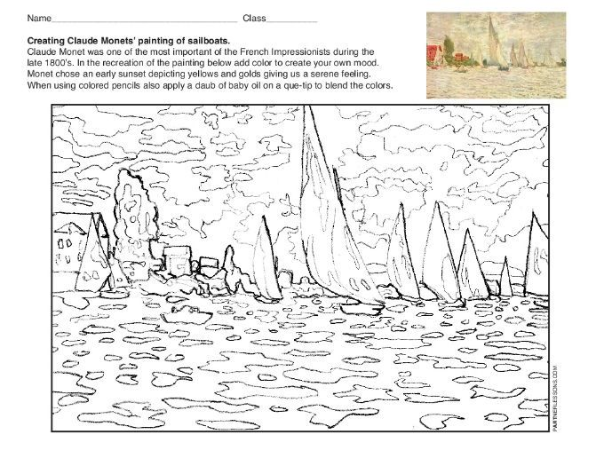Claude Monet-Drawing Art Lesson on Color Values