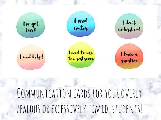 Nonverbal Cues Watercolor Cards