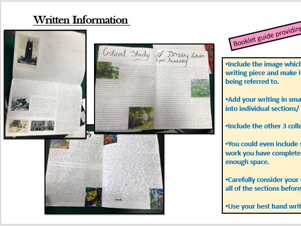 GCSE Art and Design Scheme of Work Powerpoint A01 Develop ideas through investigations etc