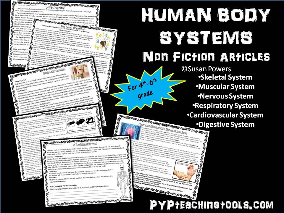 The Human Body Systems Reading Articles