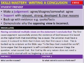 AQA RS Theme C: The First Cause Argument and Evaluation