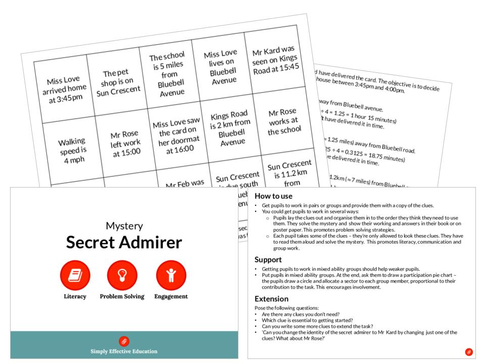 Secret Admirer (Valentine's Mystery)