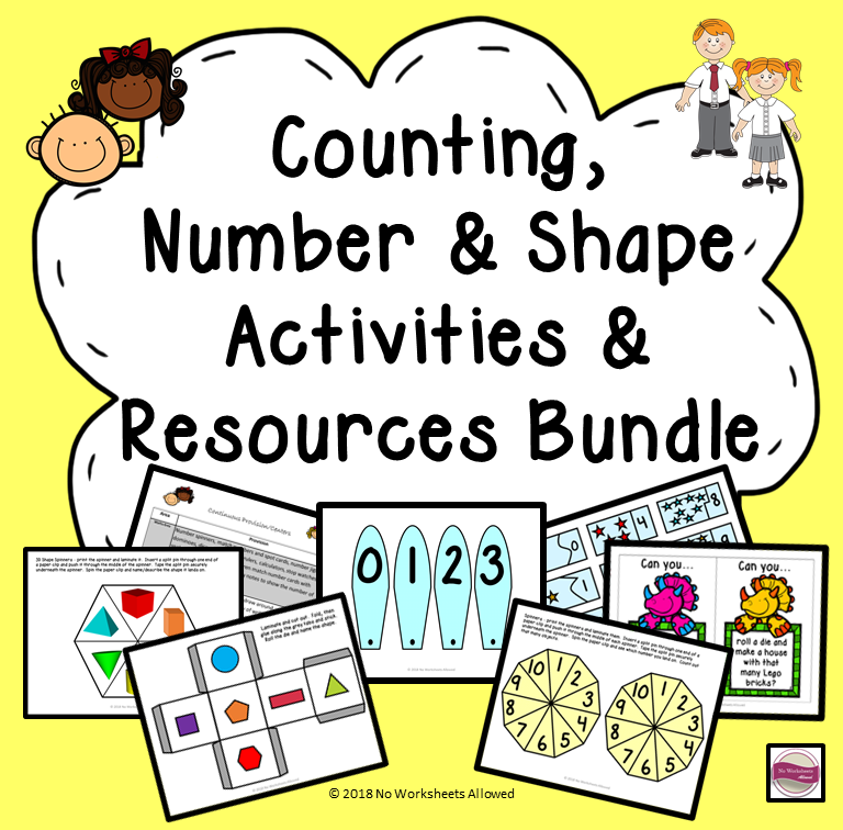 Counting, Number and Shape: Activities & Resources Bundle