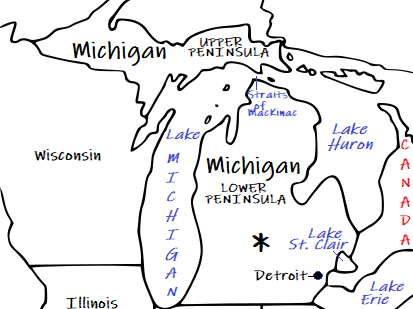 MICHIGAN - Introductory Geography Worksheet