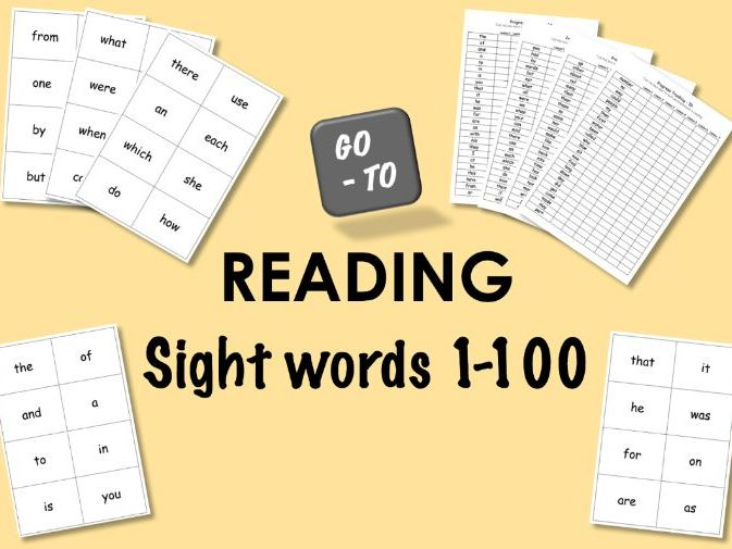 Flashcards - Reading - 100 Sight Words