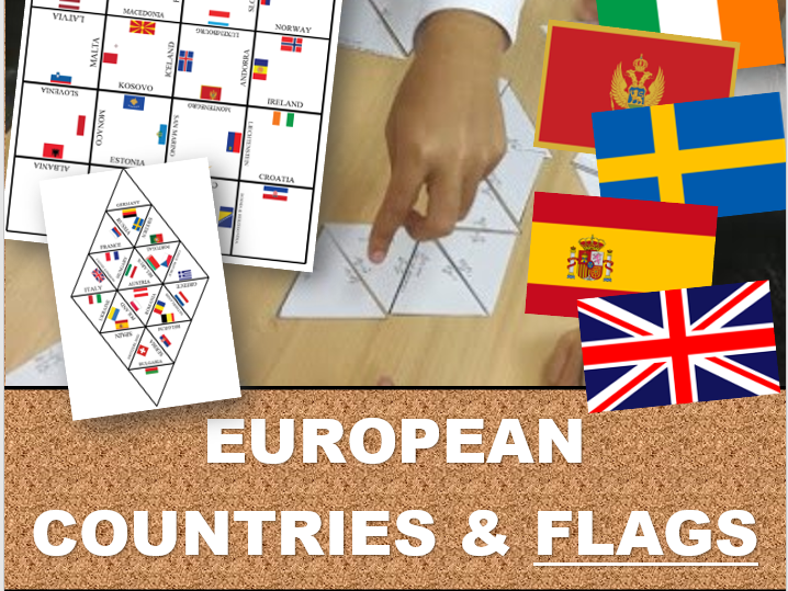 EUROPE AND FLAGS: Tarsia Puzzle