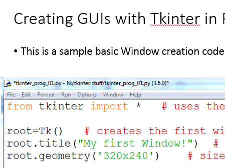 Simple intro to using tkinter to create GUI with Python