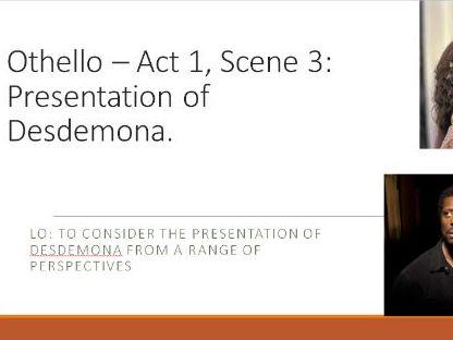 Othello - Act 1, Sc 3 A Level English Lit