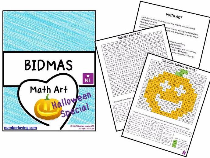 BIDMAS Maths Art Halloween Special